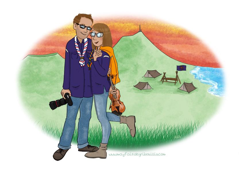 Illustrations Personnalisées de l'été - ©MaY2016 - Pour en voir plus : www.mayfaitdesgribouillis.com